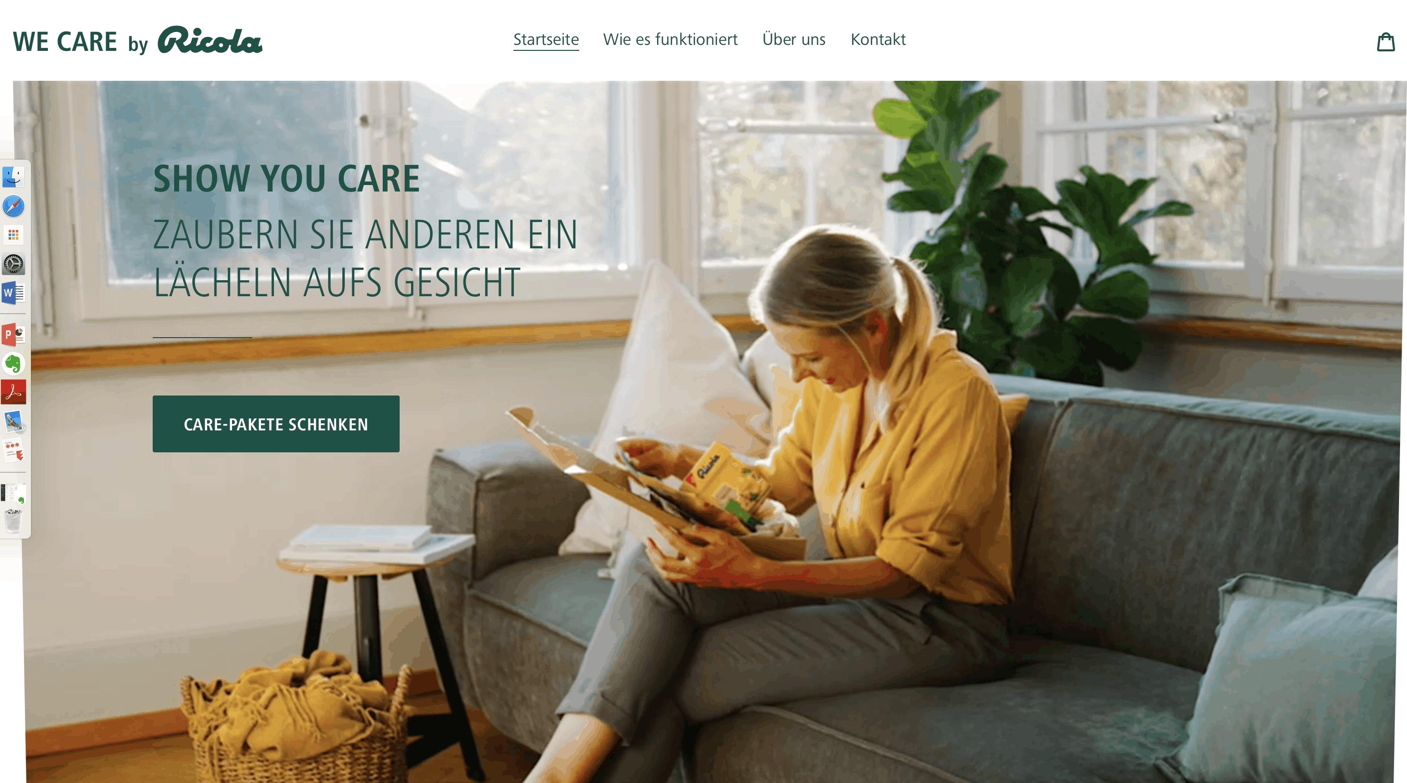 we care ricola |Screenshot